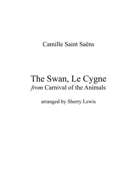 The Swan Le Cygne For String Duo Of Violin And Cello