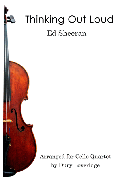 Thinking Out Loud Ed Sheeran Cello Quartet