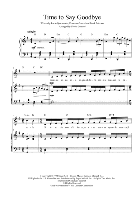 time to say goodbye andrea bocelli sarah brightman free music sheet -  musicsheets.org  music sheet library for all instruments