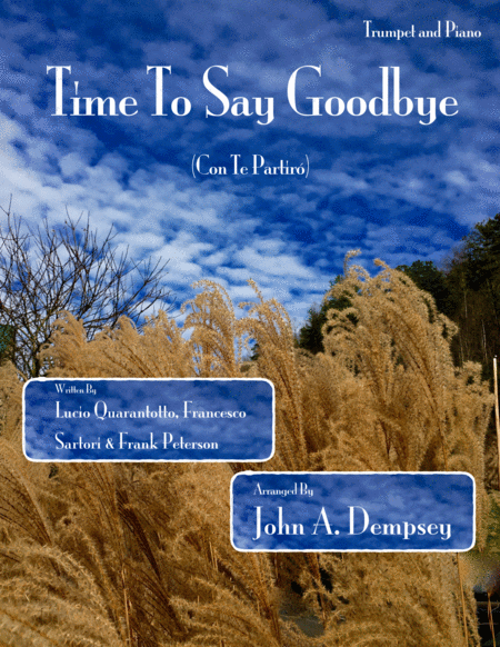 Time To Say Goodbye Trumpet And Piano Duet