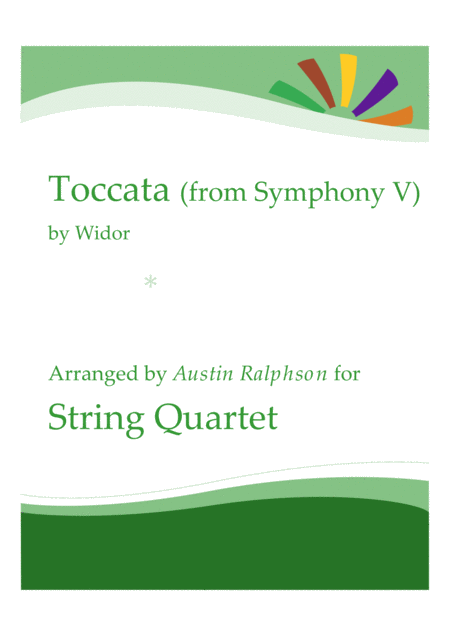 Toccata From Symphony No 5 String Quartet Or Orchestra