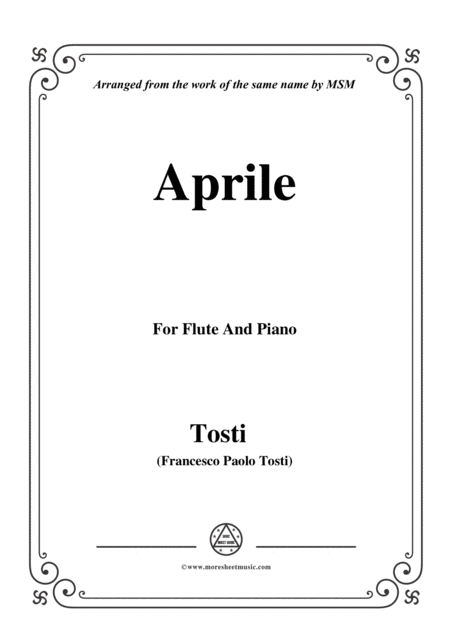Tosti Aprile For Flute And Piano