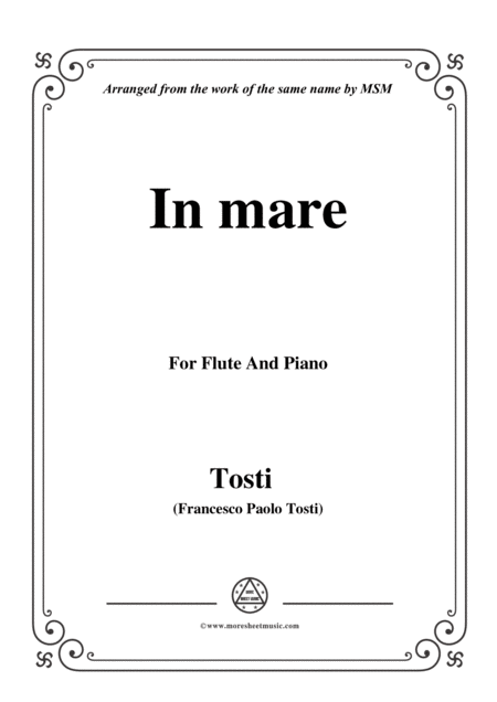 Tosti In Mare For Flute And Piano