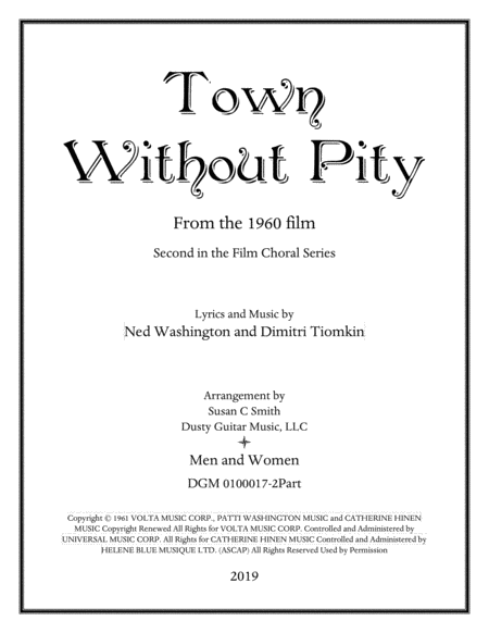 Town Without Pity 2 Voice Men Women