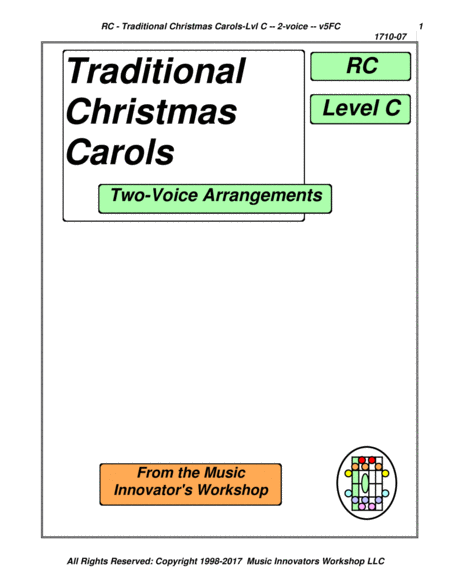 Traditional Christmas Carols 2 Pt Spl Arr Series 5fc Key Map Tab