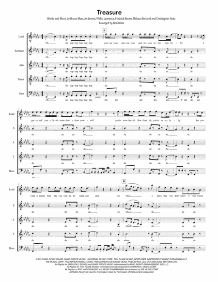 Treasure Satb Version