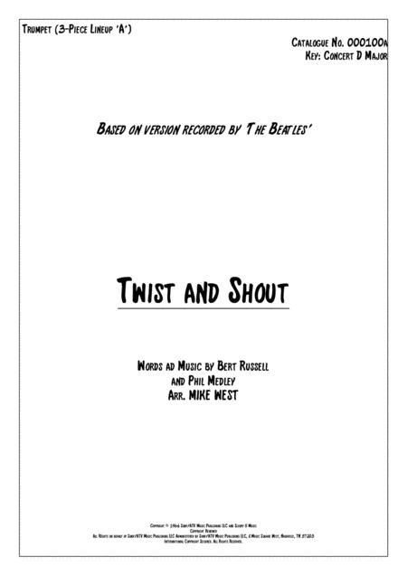 Twist And Shout 3 Piece Brass Section A