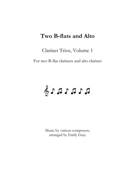 Two B Flats And Alto Clarinet Trios Volume 1