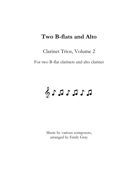 Two B Flats And Alto Clarinet Trios Volume 2
