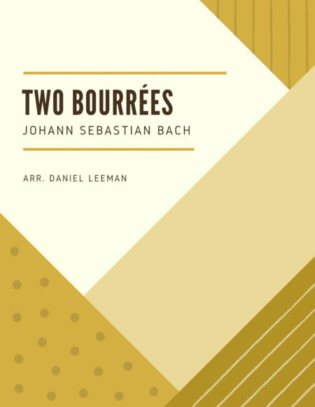 Two Bourrees For Bassoon Piano