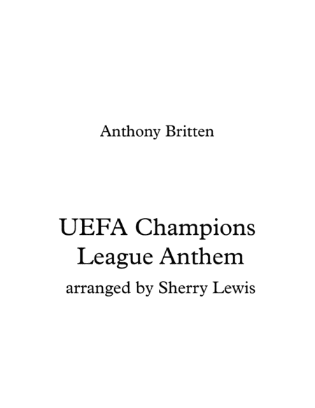 Uefa Champions League Theme String Trio For String Trio