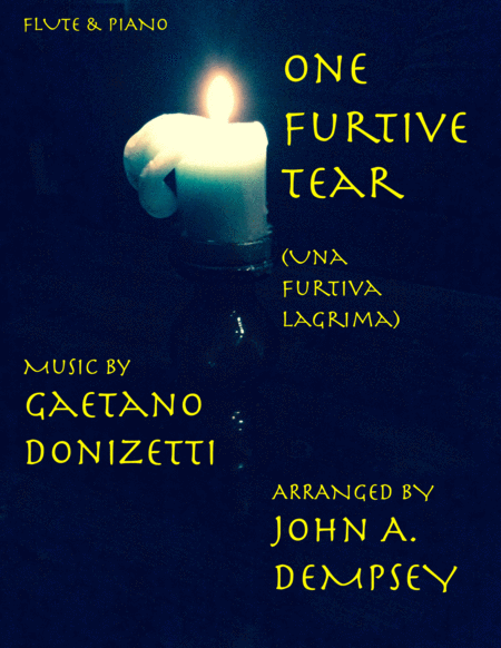 Una Furtiva Lagrima One Furtive Tear Flute And Piano