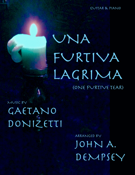 Una Furtiva Lagrima One Furtive Tear Guitar And Piano