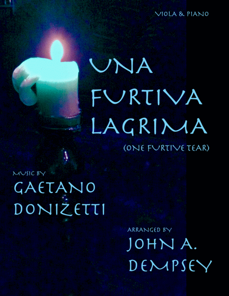 Una Furtiva Lagrima One Furtive Tear Viola And Piano