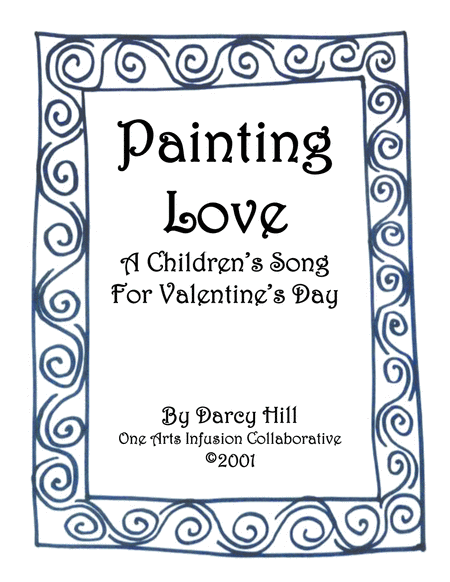 Valentines Day Sheet Music What Color Do You Paint Love Or Painting Love