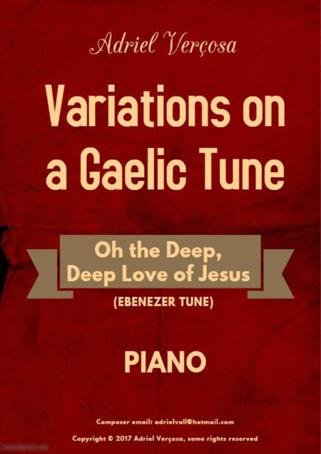 Variations On A Gaelic Tune Oh The Deep Deep Love Of Jesus