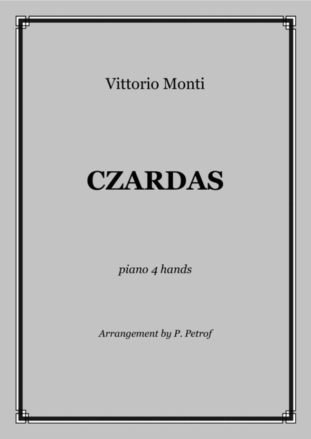 V Monti Czardas 1 Piano 4 Hands Score And Parts