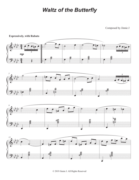 Waltz Of The Butterfly Original Piano Composition