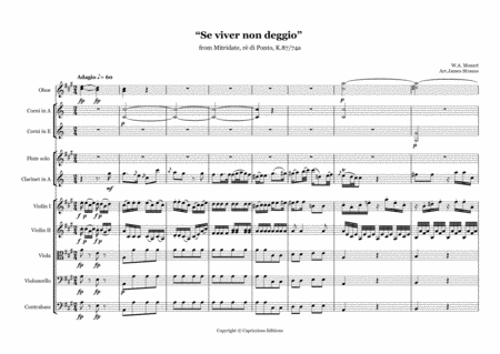 w a mozart 1756 1791 se viver non degg io from mitridate re di ponto  arranged for clarinet in a flute and orchestra free music sheet -  musicsheets.org  music sheet library for all instruments