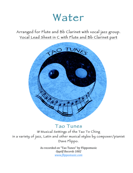 Water A Tao Tune Arrangement For Flute And Bb Clarinet With Small Vocal Jazz Group