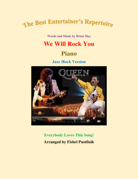 We Will Rock You For Piano Jazz Rock Version