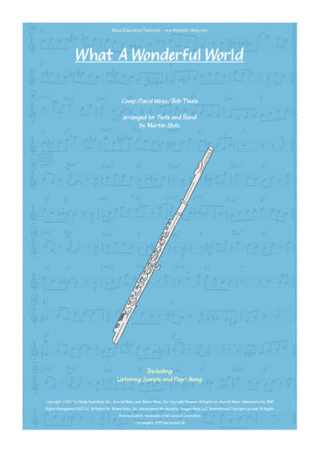 What A Wonderful World Arranged For Flute