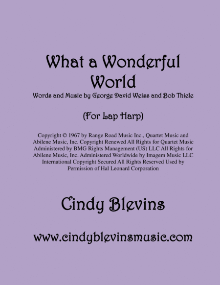 What A Wonderful World For Lap Harp