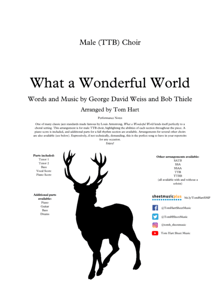 What A Wonderful World Male Ttb Choir