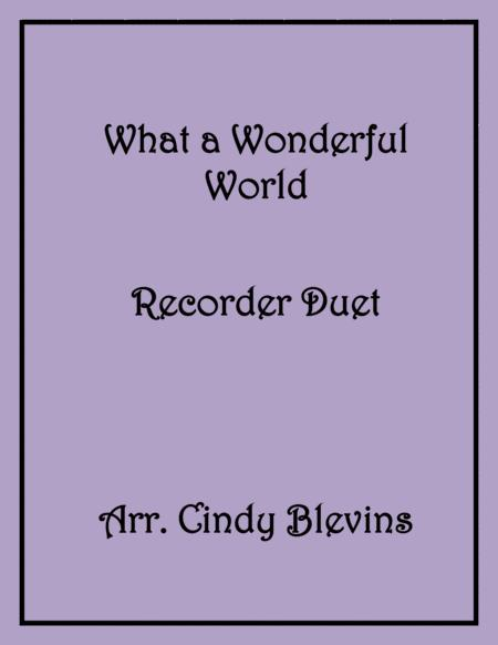 What A Wonderful World Recorder Duet