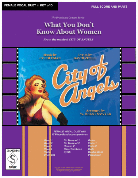 What You Dont Know About Women From City Of Angels Female Vocal Duet 17 Piece Band Full Score Parts