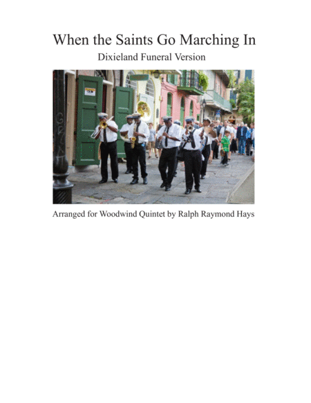When The Saints Go Marching In For Woodwind Quintet