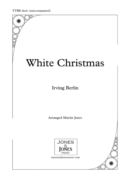 White Christmas Male Voice Choir Ttbb Unaccompanied