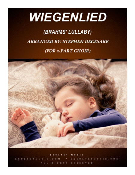 Wiegenlied Brahms Lullaby For 2 Part Choir