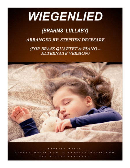 Wiegenlied Brahms Lullaby For Brass Quartet And Piano Alternate Version