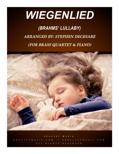Wiegenlied Brahms Lullaby For Brass Quartet And Piano