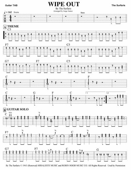 Wipe Out Guitar Tab