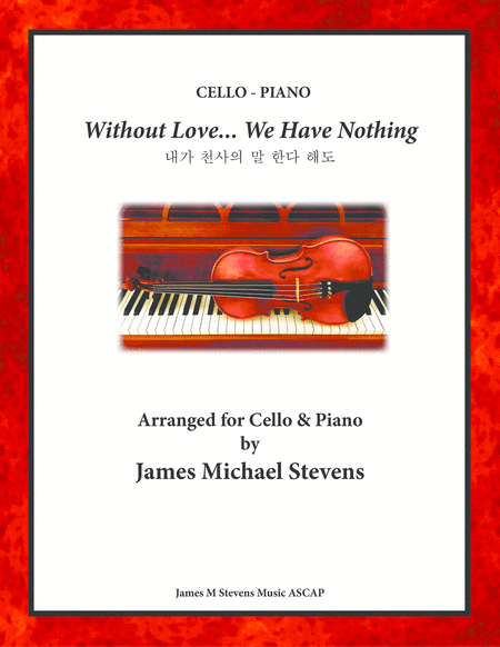 Without Love We Have Nothing Cello Piano