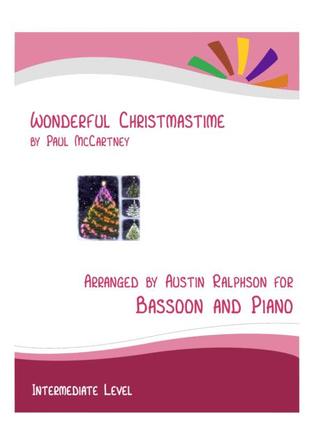 Wonderful Christmastime Bassoon And Piano Intermediate Level With Free Backing Track To Play Along