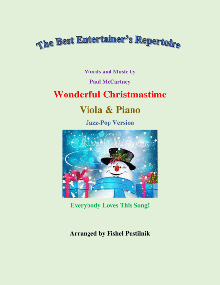 Wonderful Christmastime For Viola And Piano Jazz Pop Version Video