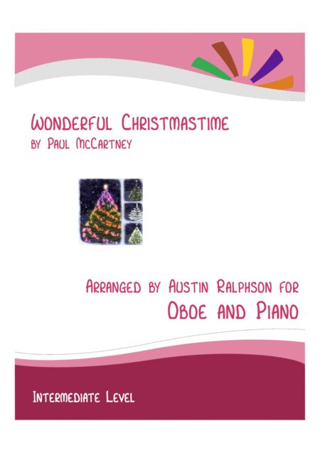 Wonderful Christmastime Oboe And Piano Intermediate Level With Free Backing Track To Play Along