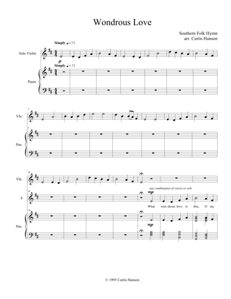 Wondrous Love Satb Version 2