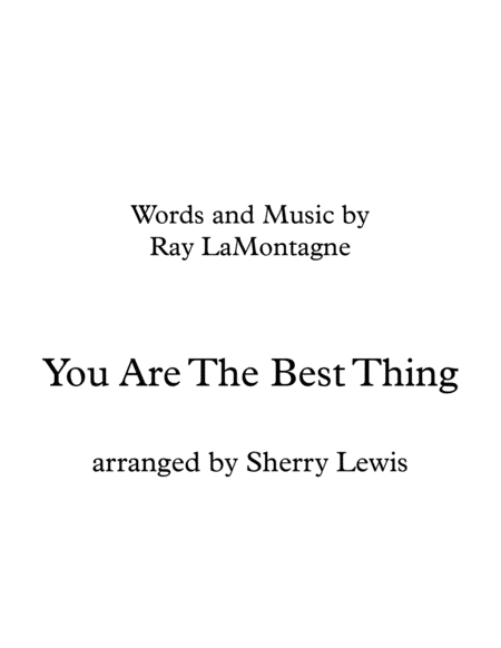 You Are The Best Thing String Quartet For String Quartet