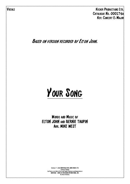 Your Song Vocals