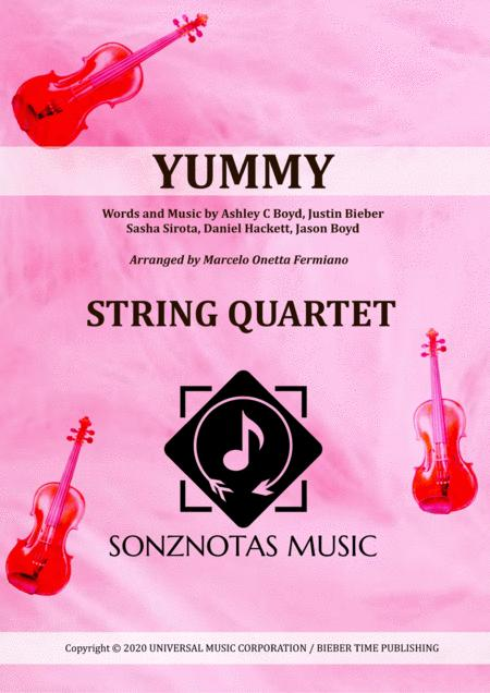 Yummy Justin Bieber Sheet Music For String Quartet Score And Parts
